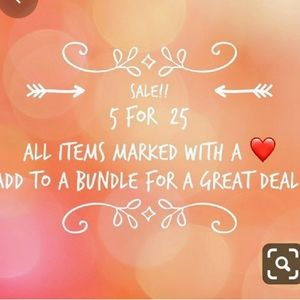 ♥️ 5 for $25 sale!